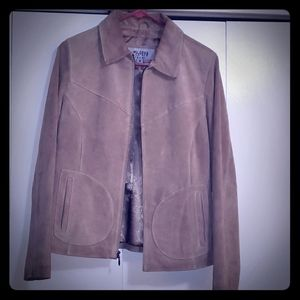 Wilson's Leather Tan Suede Lined Jacket Size M